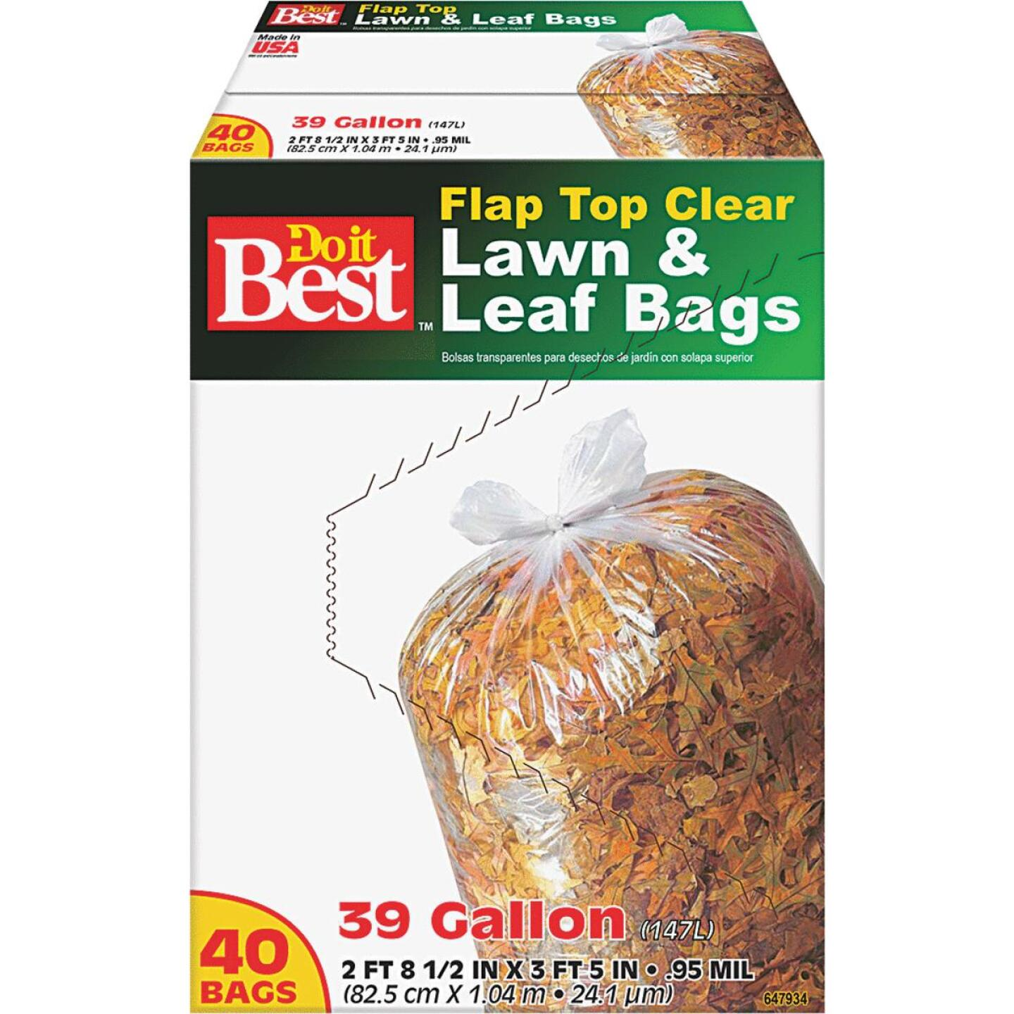 Do it Best 39 Gal. Clear Flap Tie Lawn & Leaf Bag (40-Count) Image 4